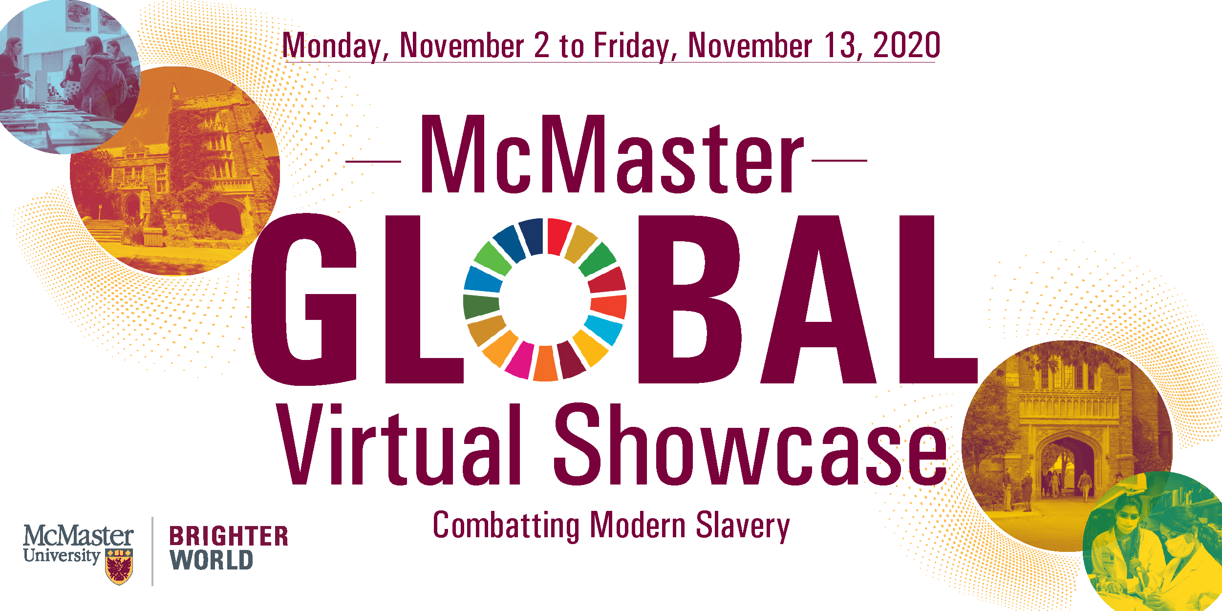 Header Graphic for the McMaster Global Showcase Panel