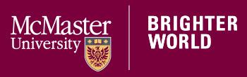 McMaster University Logo - Brighter World